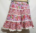 Pumpkin Patch Girls size 7 lined tiered floral skirt