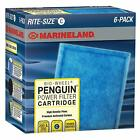 Marineland Rite-Size Penguin Power Filter Cartridges C - Blue 6-Pack