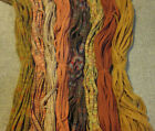 6 Eight Great Autumn Colors 200 Wool Strips for Primitive Rug Hooking