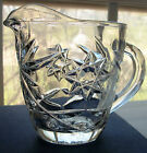 VTG STAR OF DAVID Creamer Pitcher Cup EAPC Crystal Clear Glass Pour Spout