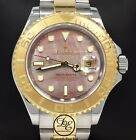 Rolex Yacht-Master 16623 40mm 18K Yellow Gold /SS Fact Tahitian MOP Dial *MINT*