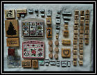 Rubber Stamp Lot Stamper Set Collection Most New Holidays Roses Garden 90+ Pc