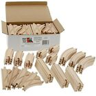 52 Piece Wooden Train Track Set Builders Railroad Tracks Kids Toys Thomas Brio