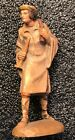 Vintage ANRI KUOLT 3 SHEPHERD w horn WOODCARVING NATIVITY