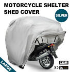 Large Motorcycle Shelter Storage Cover Tent Garage Outdoor Rain Strong Carry
