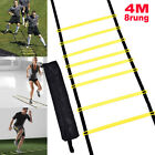 8 rung Agility Ladder for Soccer Football Speed Fitness Feet Training Tool New