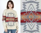 Vintage 70s Pendleton Southwestern Native American Ethnic Ivory Knit Sweater L