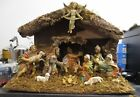 Vintage Nativity Set Italy 12 Pieces Musical Silent Night