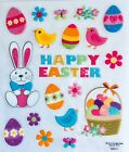 Happy Easter Egg Bunny Glitter Scrapbook Stickers