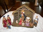 Nativity Scene 12 Piece Wooden Shed