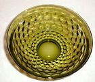 Retro glass serving bowl cubist green Center peice