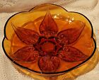 VINTAGE MID-20th CENTURY ANCHOR HOCKING RENAISSANCE AMBER GLASS SERVING DISH