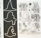 IF THE HAT FITS STAMP SET  COORDINATING FRAMELITS DIES WITCH HALLOWEEN