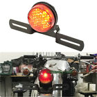 12V Custom Built Motorcycles Brake License Plate Tail light Red Lens Circular US