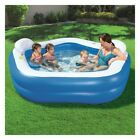 Inflatable Family Fun Kiddie Swimming Pool Outdoor Backyard Kids Water Splash