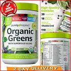 Purely Inspired Organic Greens USDA Organic Super Greens Powder 8.57oz 24 Servin