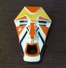 Clarice Cliff - Art Deco Mask - Wedgwood  Orange/White/Yellow/Black - Mint 2001