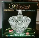 Vintage Anchor Hocking Glass Wexford Ware Candy Dish With Lid