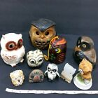 Lot 10 Collectible VTG ceramic owls candle holder bell figurines JapanTaiwan