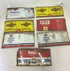 Vintage Flattened Quart Oil Can Cans Lot of 7 Standard Amoco Pennzoil Gulfpride