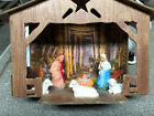 VINTAGE NATIVITY SET COMPLETE WITH FIGURES