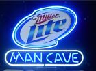 Miller Lite Man Cave Beer Bar Real Glass Neon Light Sign FASt FREE SHIPPING