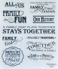 Family History Ties Traditions Forever Fun Love Scrapbook Stickers Phrases