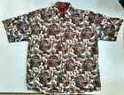 Vintage Tommy Jeans Polyester Button Up Motocycle Print XL RARE Unique VTG