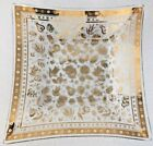 Georges Briard Glass Tray Golden Persian Garden Leaf Square 11