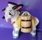 Donkey Burro Carrying Salt Pepper Shakers Gray Hooks in Donkey Japan Vintage MCM