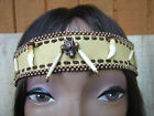 Native American Deerskin Leather Headband w wolf Tooth Beaded Handcrafted