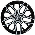 4 GWG NIGMA 18 inch Stagg Black Machined Rims fits LEXUS IS 300 2001 2005