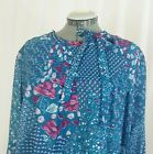 Vintage DD DAMON DRESS Boho Hippie Gipsy Floral Print Long Sleeve One Size