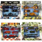 Die Cast Vehicle Playsets Police Fire Truck Construction Military Lot of 12