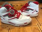 REEBOK TWILIGHT ZONE THE PUMP J10325 WHT RD GRY MENS BASKETBALL SIZE 12