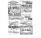 Family Reunion Lifetime Memories Legacy Blessing Fun Phrase Scrapbook Stickers