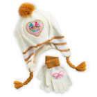 NWT-NICKELOADEON SHIMMER & SHINE BEANIE AND GLOVES SET FOR YOUNG GIRLS