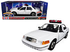 2001 Ford Crown Victoria Police Car Plain White with Lights  Sound