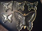 GOLD TRIM BUTTERFLY CANDY SERVING DISH SET