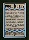 Pool Rules 12 by 18 metal Sign Pool Hot Tub Spa Quality Sign