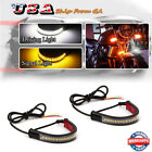 For Motorcycle Fork Turn Signal / Daytime Dual-color Switchback LED Light Strips