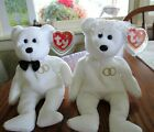 Ty Beanie Baby 2001 Mr and Mrs Bear Bride and Groom Wedding Teddy Set 1st Ed.!!!