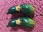 Vintage Cucumber Salt And Pepper Shakers Made In Japan