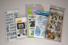 Lot of Clear Stamps Tim Holtz Art Impressions Amy Tangerine Hero Arts