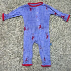 Kickee Pants Boys Print Coverall with Snaps in Forest Monkey 6 9 months