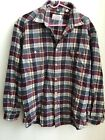 GIORGIO ARMANI Jeans Made in Italy Mens Large Vintage Plaid Wool Shirt