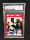 Willie Mays Signed 1980 TCMA Card #1 San Francisco Giants NY Mets PSA DNA