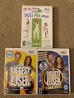 Nintendo Wii 3 Game Bundle The Biggest Loser 1  Challenge Wii Fit Plus