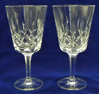 2 Gorham Crystal King Edward Water Goblets 7 1 8 12 oz Stems Glasses Exc