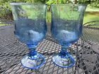 2 Anchor Hocking Savannah Blue Glass 7 1/4